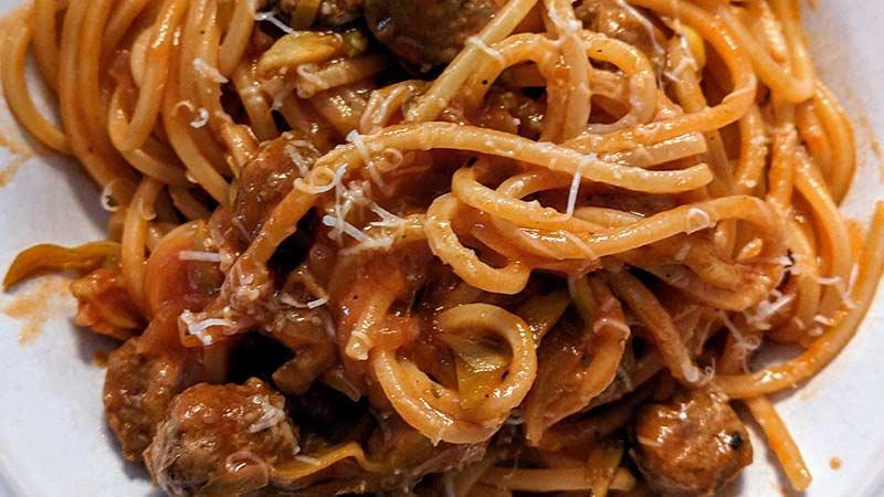 spaghetti alla chitarra con pallotine